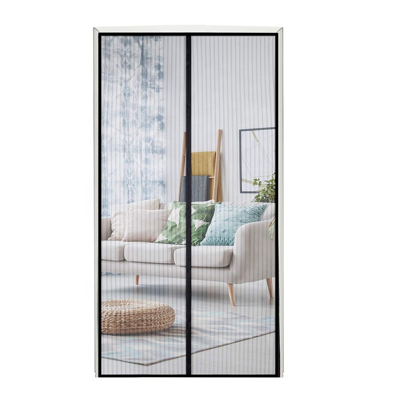 2020 New Design Magnetic Door Screen Curtain Fly Mosquito Net Door 1 buyer Black