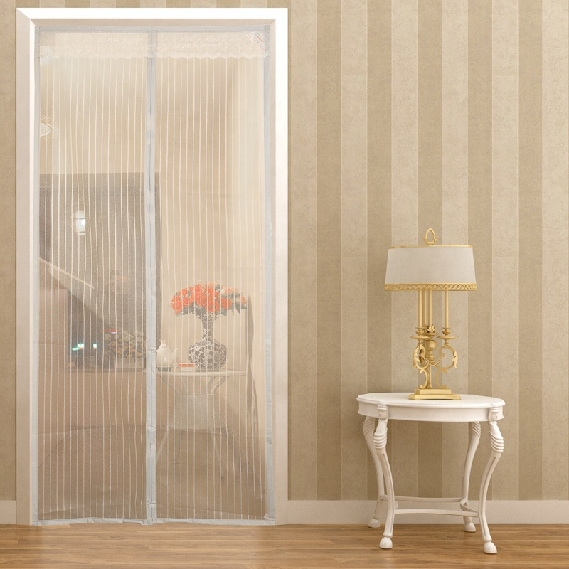 Upgraded Magnetic Curtain Door Hands Free Screen Prevent Mosquito Insect And Fly Screen With Magnets Beige